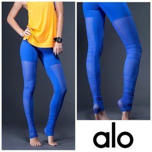 ALO YOGA | Mesh Goddess Leggings Surf Blue Small